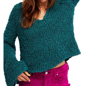 Free People Sand Dune Pullover green/teal sweater
